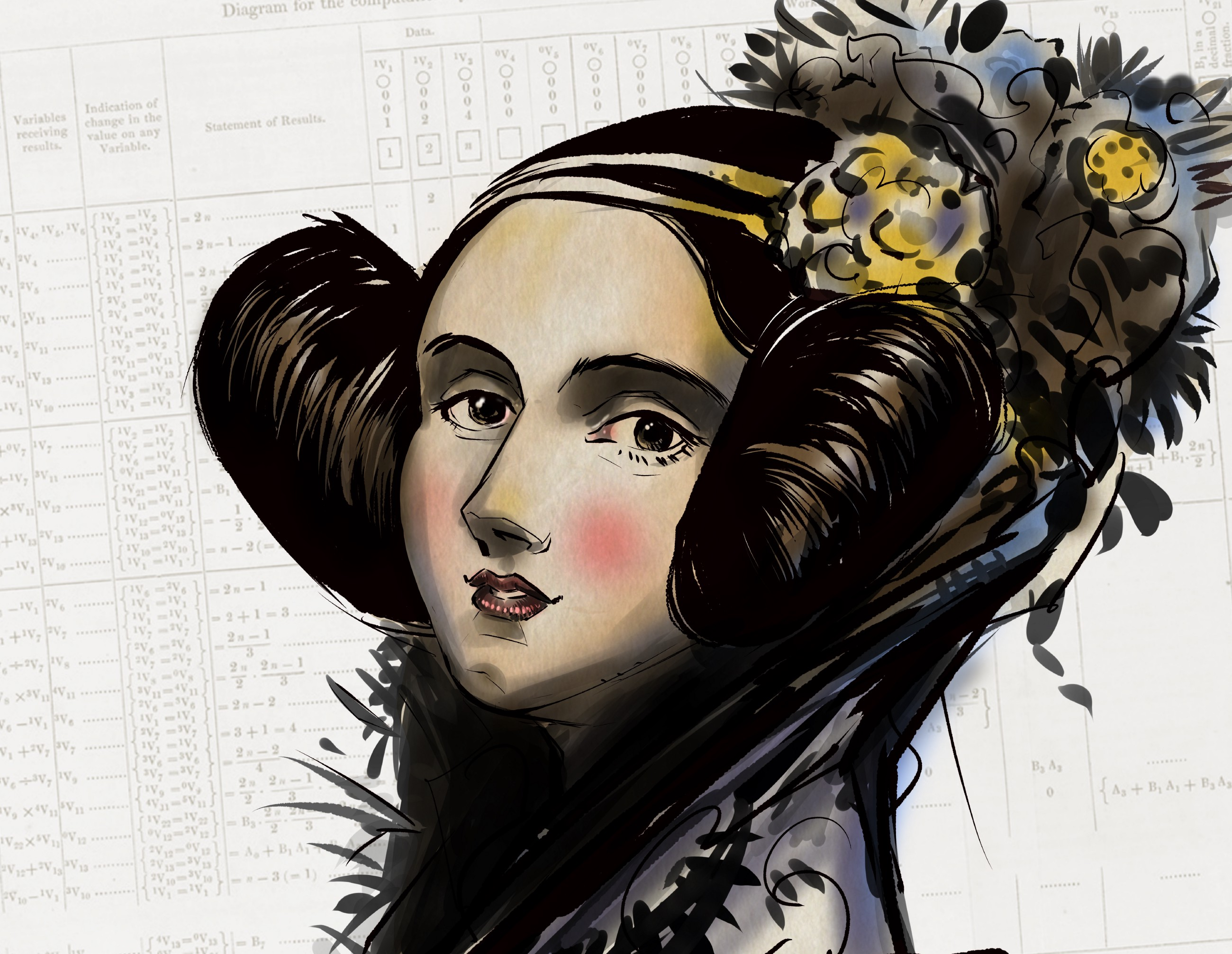 Ada Lovelace by @SebastianNavasF